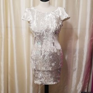 Dress the population sequined mini dress size Smal